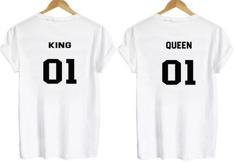 king and queen shirt back couple
