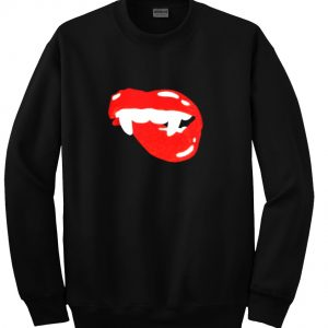 sparkley vampire lips sweatshirt