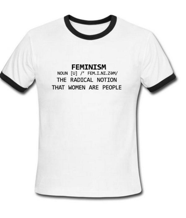 feminism ringer t shirt