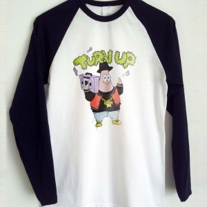 turn up patrick raglan longsleeve t shirt