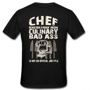 chef t shirt back