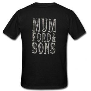 mumford t shirt back