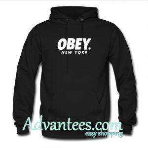 obey new york hoodie