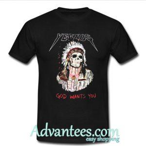 yeezus indian skull t shirt