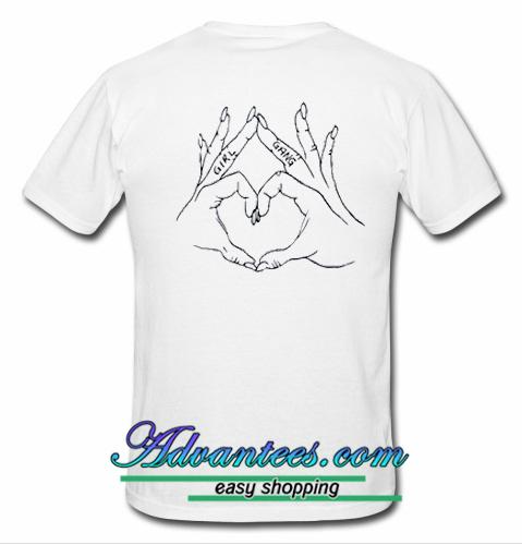 girl gang love hand t shirt back