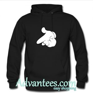 Mickey Hands Gun Crewneck Cartoon hoodie