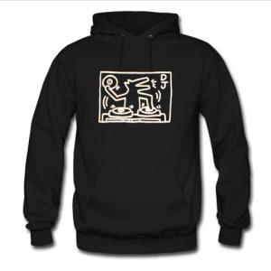 dj dog hoodie