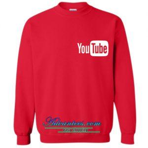 youtube logo sweatshirt