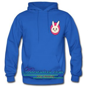 angry rabbit face hoodie