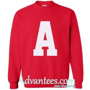 A font sweatshirt
