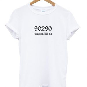 90290 topanga los angeles california t-shirt