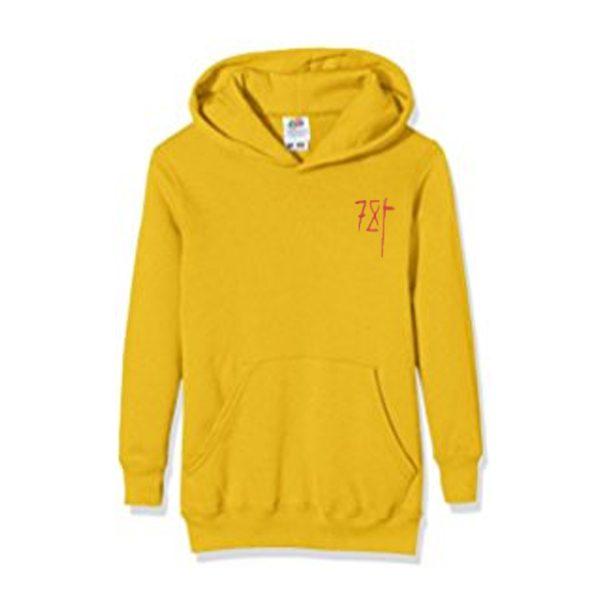 7X yellow hoodie