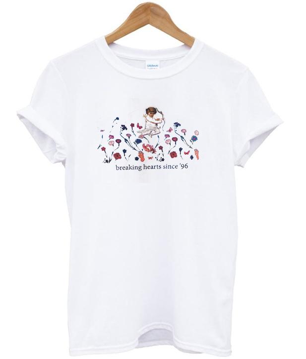 breaking hearts since 96 t-shirt