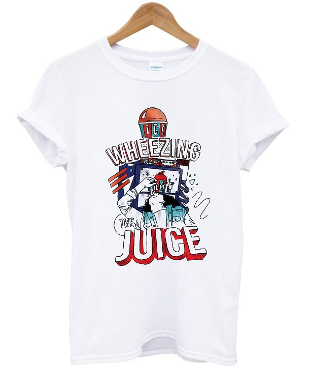 wheezing juice t-shirt