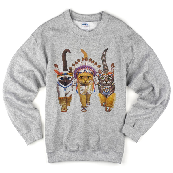 cat indians sweatshirt