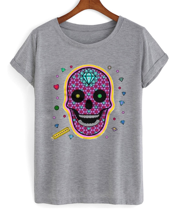 skull diamonds t-shirt