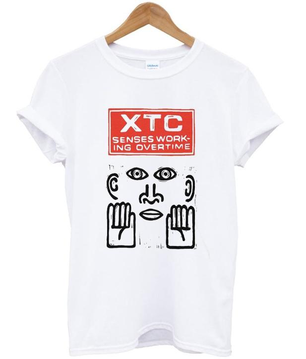 XTC senses working overtime t-shirt