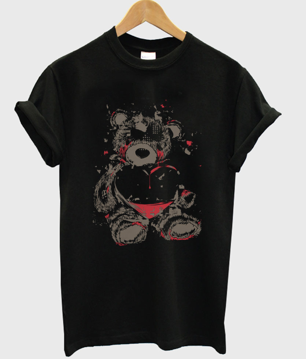 crying bear t-shirt